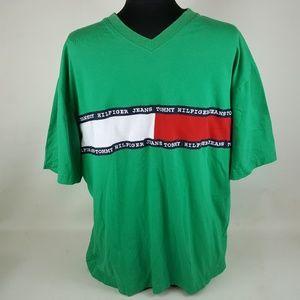 Tommy Hilfiger Shirt, Mens XXL, Spell Out Short